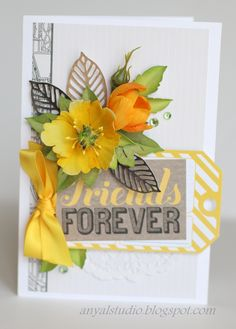 My creative corner: Mixing old supplies with new...   card found on Scrapbook.com -Wendy Schultz ~ Cards 1.