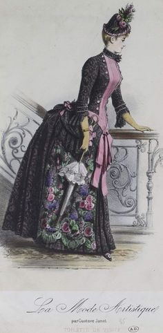 1880s Fashion, Edwardian Fashion, Vintage Fashion, Vintage Gowns, Vintage Outfits, Victorian Women, Victorian Dresses, Historical Clothing, Historical Dress