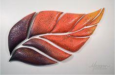 "Meagan Chaney Gumpert  |  ""Anthocyanin"" (May 2012), earthenware (27x38x2"")."