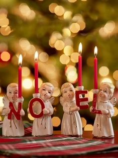 $29.95 · Celebrate the True Meaning of Christmas With This Choir of Noel Angel Candleholders #christmasdiy