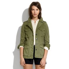 Olive military jacket necessary for everything - Madewell Outbound Jacket.