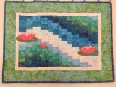 Bargello water lillies Bargello, Sewing Projects, Water, Painting, Home Decor, Scrappy Quilts, Gripe Water, Decoration Home, Room Decor