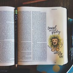 daniel continued to pray nothing could STOP HIM! Art Journaling, Bible Journaling For Beginners, Bible Study Journal, Scripture Study, Bible Art, Scripture Journal, Bible Drawing, Bible Doodling, Bible Prayers
