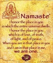 The concept of Namaste.