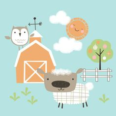Farmyard Illustration by Maeve Parker // www.maeveparker.com