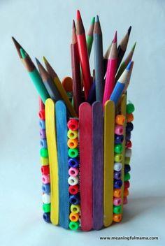 Decorative Tin Can Containers - Fun Family Crafts Tin Can Crafts, Crafts To Do, Arts And Crafts, Popsicle Stick Crafts, Craft Stick Crafts, Popsicle Sticks, Abatelenguas Ideas, Craft Ideas, Pop Stick