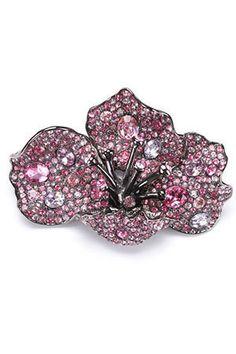 Kenneth Jay Lane  Swarovski Blooming Pin in Pink  $360.00