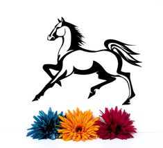Metal Horse Silhouette Wall Art - Metal Wall Decor