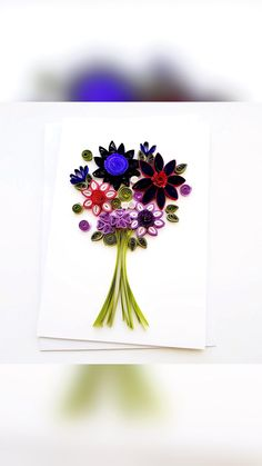 Paper Quilling Flowers, Napkins, Bouquet, Tableware, Cards, Dinnerware, Towels, Dinner Napkins, Bouquet Of Flowers