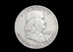 1951D VG or Better 90% Silver Franklin Half Dollar!. Starting at $13
