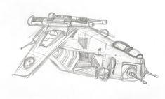 Star Wars republic gunship sketch by Tuftedplanelucy99.deviantart.com on @DeviantArt