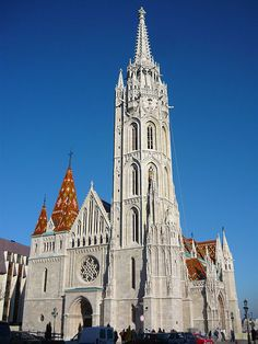 Matthias Church, Budapest, Hungary was originally built in Romanesque style in 1015.  by VinceB