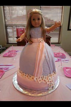 American Girl Doll cake Pinteres