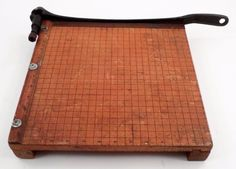 """1940s Ingento #4 12"""" Paper Cutter Guillotine Trimmer Ideal School Supply Chicago #Ingento"""