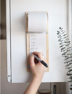 DIY Wood Shopping List Pad - just tear off your list when you're ready to go to the store