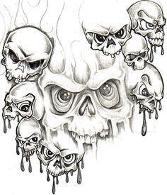 """Képtalálat a következőre: """"skull and demon tattoo"""" Evil Skull Tattoo, Skull Rose Tattoos, Evil Tattoos, Body Art Tattoos, Demon Tattoo, Samurai Tattoo, Skull Tattoo Design, Tattoo Design Drawings, Tattoo Designs"""