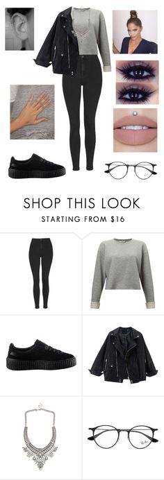 """Untitled #3096"" by vanessa898 ❤ liked on Polyvore featuring Topshop, Miss Selfridge, Puma and Ray-Ban"