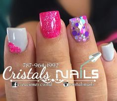 Crazy Nails, Love Nails, Pretty Nails, Square Acrylic Nails, Best Acrylic Nails, Sparkle Nails, Fancy Nails, Aycrlic Nails, Pink Nails