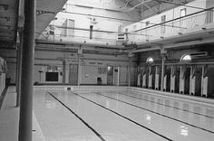 The Deep End and Changing Cubicles at Attercliffe Road Swimming Baths Sheffield City, Northern England, Yorkshire, Swimming, Baths, Cubicles, Places, Memories, Pictures