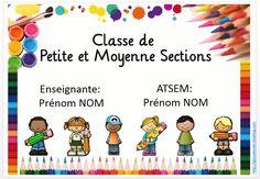 Affichette pour la porte - Gijou à la maternelle