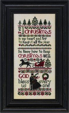 Erica Michaels Ebenezer's Christmas - Cross Stitch Pattern. I will honor Christmas in my heart and try to keep it there all year. He knew how to keep Christmas
