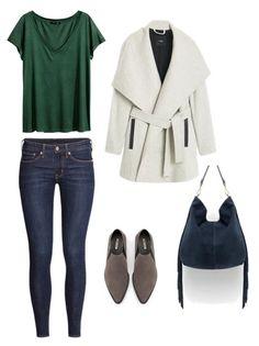 K:  Bluzka, spodnie H&M  Płaszcz Mango  Buty, torba Zara