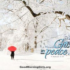 Go in peace. 1 Samuel 1:17