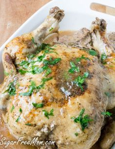 whole-chicken-gravy-instant pot- pressure cooker- low carb- gluten free Low Carb Chicken Recipes, Low Carb Recipes, Real Food Recipes, Healthy Recipes, Turkey Recipes, Healthy Meals, Instant Pot Pressure Cooker, Pressure Cooker Recipes, Pressure Cooking