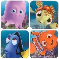 IMAGE: Finding Nemo. Pearl, Squirt, Dory, Nemo (added)