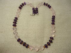 """Aaa+ Natural Rose Quartz Balls Faceted 20"""" Beads Necklace, 265 Cts. For Gift #Handmade #Faceted"""
