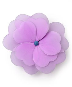 Take a look at this Purple Multilayer Hanging Flower on zulily today!