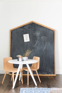 Fun kids playroom. Eclectic and colorful playroom design. #chalkboard | Studio McGee Blog