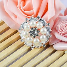 Ornamental Accessory With a Round Venetian Pearl - EUR € 1.67 light in the box