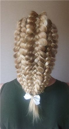 2 side dutch 3 strand braids and 1 middle dutch 5 strand braid