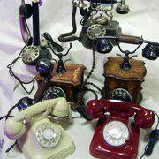 Teléfonos modernos retro