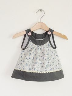 Baby girls top from vintage table linen Etsy UK. £16.00, via Etsy.