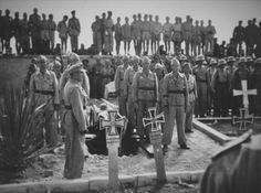 "fuhrerbefiehl: ""(Click for Hi-res) Original photo from the funeral of Luftwaffe ace Hans-Joachim Marseilles """