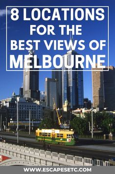 Are you a city lover and looking to to get the best views of Melbourne? This guide takes you to 8 awesome places to get the best views of the Melbourne skyline and also the recommendations for the best sunset spots in Melbourne! Melbourne Skyline, Places In Melbourne, Visit Melbourne, Coast Australia, Australia Travel, Western Australia, Australian Photography, Best Sunset, Nice View