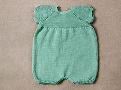 Pelele manga corta tricotado con algodón Rubí Natural