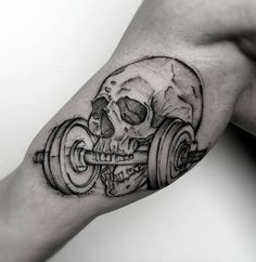 Sketched skull by Dani Luu
