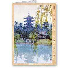SOLD! - oriental japanese Yoshida lake Shrine Temple Cards