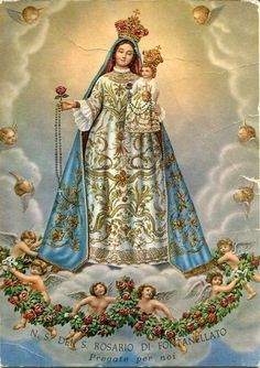 Our Lady of the Rosary of Fontanellato, Parma, Italy Religious Pictures, Religious Icons, Religious Art, Lady Madonna, Madonna And Child, Blessed Mother Mary, Blessed Virgin Mary, Catholic Art, Catholic Saints