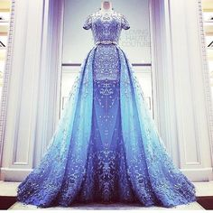 #BestOf2015LHC Zuhair Murad blue gown from his Spring/Summer collection 2015  by lovinghautecouture