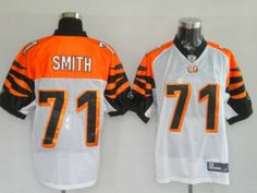Bengals #71 Andre Smith White Stitched NFL Jersey