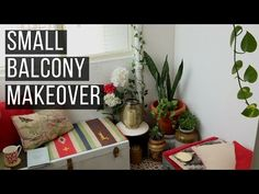 If you have a tiny balcony like me, there are endless ways to make the most of the space. Read this ten-step small balcony makeover guide to find out how! Diy Dining Room Table, Dining Table With Bench, Pottery Barn Desk, Scrabble Wall Art, Mother Daughter Projects, Old Coffee Tables, Tiny Balcony, Wood Bookshelves, Diy Hanging