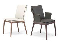 Upholstered leather chair SOFIA - Cattelan Italia