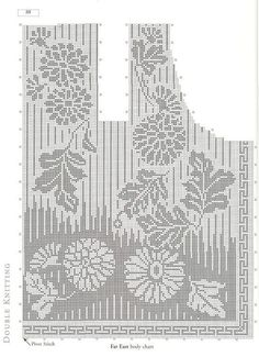 Best 12 Mobile LiveInternet Lady Boutique Series – Colección tejida a mano 2018 Filet Crochet Charts, Crochet Cross, Knitting Charts, Crochet Motif, Knitting Stitches, Knitting Designs, Crochet Lace, Knitting Patterns, Crochet Patterns