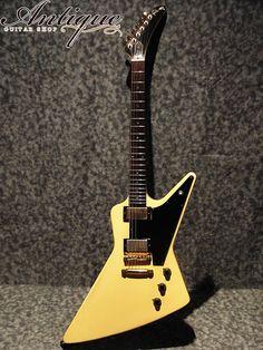 "Gibson Custom Shop Heritage Korina Explorer 83年製 Alpine Whit ltd.500 Full-Original except re-nut ""Super Rare Spec""(中古・ヴィンテージ)ITM0979609【Jギター楽器詳細|Gibson】"
