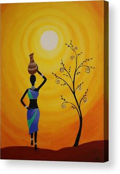 Tribal Lady Acrylic Print featuring the painting Tribal Art by Kalyani Zodey Madhubani Art, Madhubani Painting, Worli Painting, Acrylic Paintings, Buddha Painting, Fabric Painting, Afrique Art, African Art Paintings, Indian Folk Art