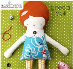 Greta Doll PDF Sewing Pattern Instant Download